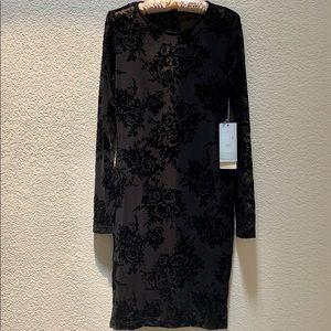 NWT Iris Los Angeles Black Mesh Bodycon Dress